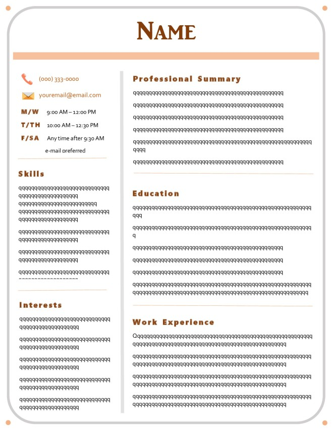 resume imagine accents template nustuffs
